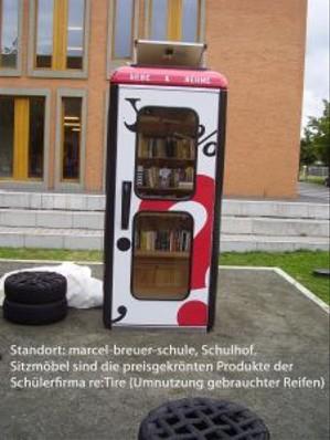 BücherboXX an der marcel-breuer-schule
