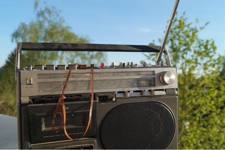 Kassettenradio Mit Bandsalat2