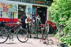 Fahrrad-Selbsthilfe-Werkstatt in der Regenbogenfabrik